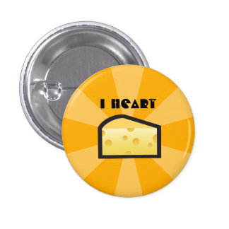 I Heart Cheese Button