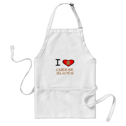 I Heart Cheese slices Adult Apron