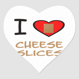I Heart Cheese slices Heart Sticker