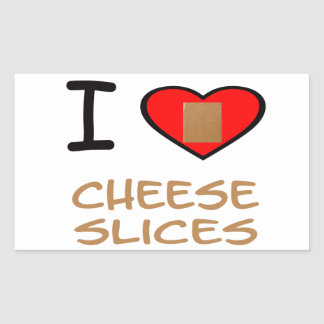 I Heart Cheese slices Sticker
