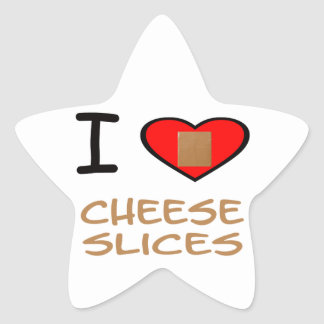 I Heart Cheese slices Stickers