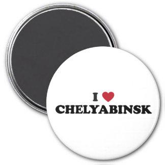 I Heart Chelyabinsk Russia 3 Inch Round Magnet