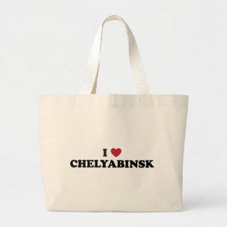 I Heart Chelyabinsk Russia Large Tote Bag