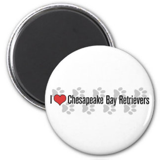 I (heart) Chesapeake Bay Retrievers 2 Inch Round Magnet