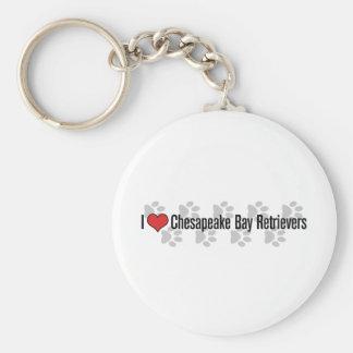 I (heart) Chesapeake Bay Retrievers Basic Round Button Keychain