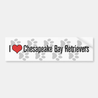 I (heart) Chesapeake Bay Retrievers Bumper Sticker