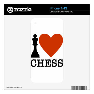 I Heart Chess iPhone 4 Decal