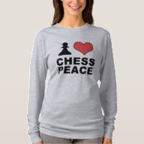 'I Heart Chess Peace' Small Gray womens Pullover
