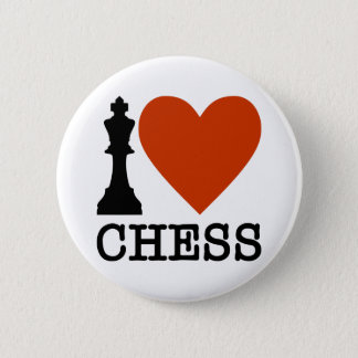 I Heart Chess Pinback Button