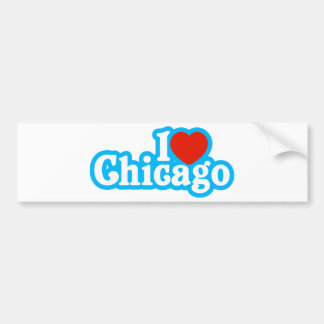 I Heart Chicago Bumper Sticker