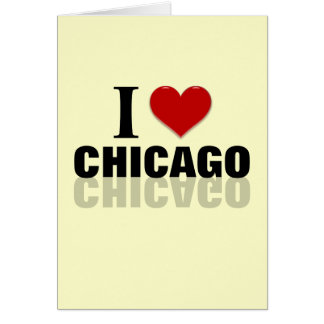 I Heart Chicago Card