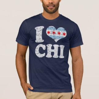 I heart Chicago Flag CHI T-Shirt