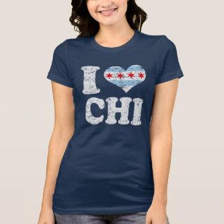 I heart Chicago Flag CHI T Shirts