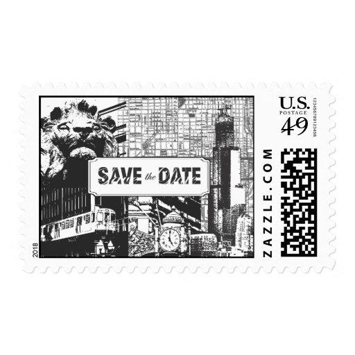 I Heart Chicago Postage Stamp