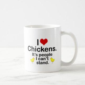 I (Heart) Chickens Coffee Mugs