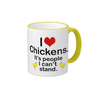 I (Heart) Chickens Mugs