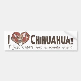 I Heart Chihuahua Car Bumper Sticker
