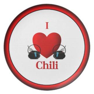 I Heart Chili Dinner Plate