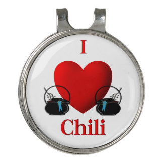 I Heart Chili Golf Hat Clip