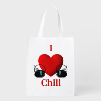 I Heart Chili Grocery Bag