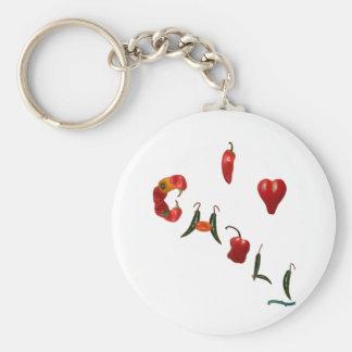 I Heart Chili Keychain
