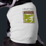 """I Heart Chimps Doggie T-Shirt<br><div class=""""desc"""">Okay,  we know it&#39;s not really Fido who loves chimpanzees,  but isn&#39;t it a cute shirt!  Get this shirt for your most-loved canine friend and let everyone at the dog park know why you heart Chimpanzee  Sanctuary Northwest.</div>"""