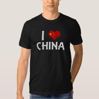 I heart China - distressed Shirt