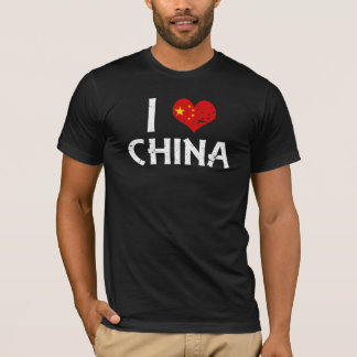 I heart China - distressed T-Shirt
