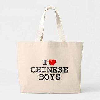 I Heart Chinese Boys Jumbo Tote Bag
