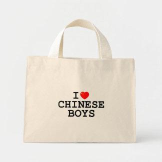 I Heart Chinese Boys Mini Tote Bag