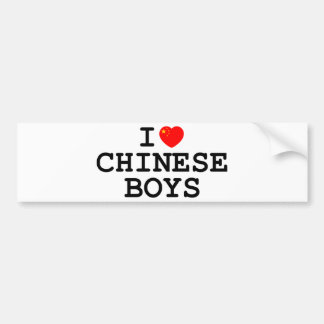 I Heart Chinese Boys Bumper Stickers