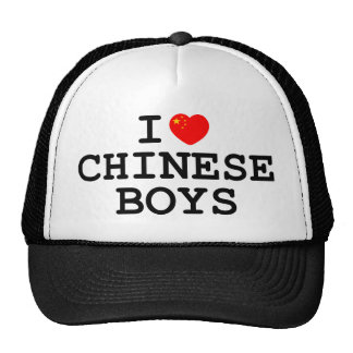 I Heart Chinese Boys Trucker Hat