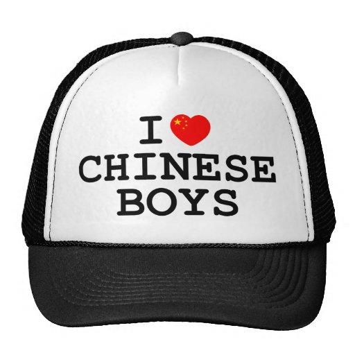 I Heart Chinese Boys Hats