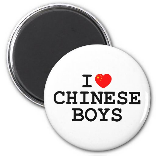 I Heart Chinese Boys Magnet