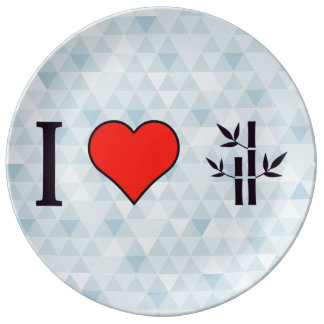 I Heart Chinese Spas Porcelain Plate