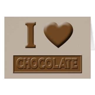 I Heart Chocolate Greeting Card
