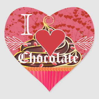 I Heart Chocolate-I Love Chocolate Heart Sticker