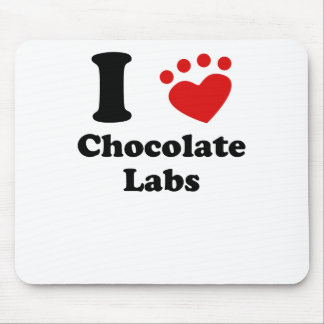 I Heart Chocolate Labs Mouse Pads