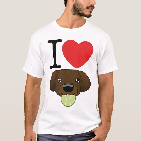 I Heart Chocolate Labs T-Shirt