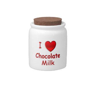 I Heart Chocolate Milk Candy Jars