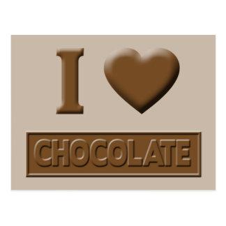I Heart Chocolate Postcard