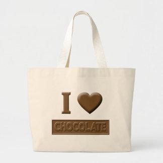 I Heart Chocolate Tote Bags