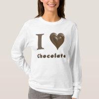 i heart chocolate tshirt