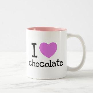 i heart chocolate Two-Tone coffee mug
