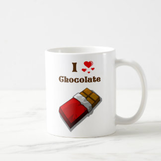 I Heart Chocolate with bar Coffee Mug