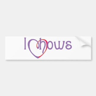 I Heart Chows Bumper Stickers