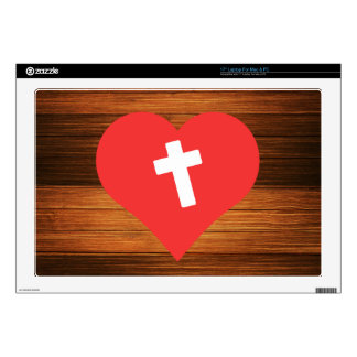 """I Heart Christianity Vector Decals For 17"""" Laptops"""
