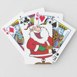 I heart Christmas Santa Claus Bicycle Playing Cards