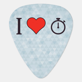 I Heart Chronograph Watches Guitar Pick