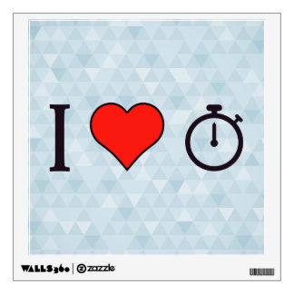 I Heart Chronograph Watches Wall Sticker